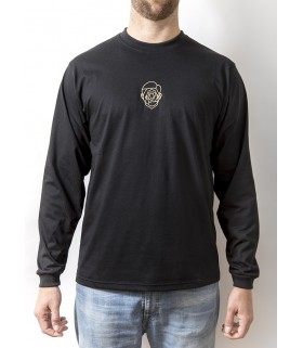 FACE CNTR LONGSLEEVE SHIRT - BLACK