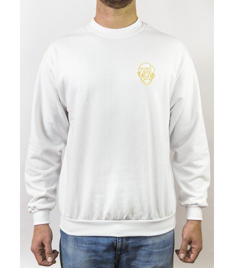 FACE SWEATSHIRT - WHITE