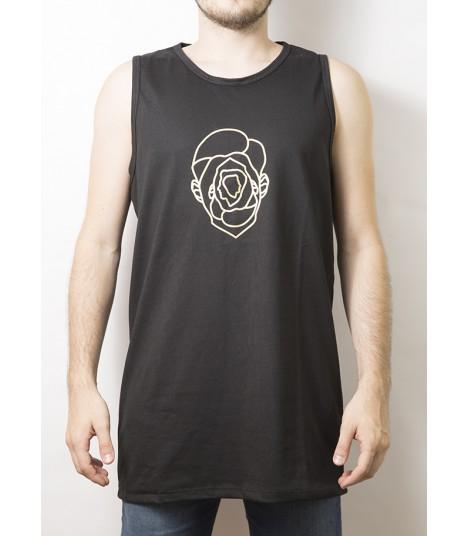 Camiseta de tirantes Sport Negra – Largo Extendido