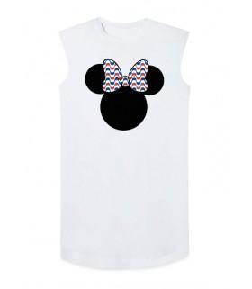 Camiseta con hombreras DEEF Rolling Stones blanca