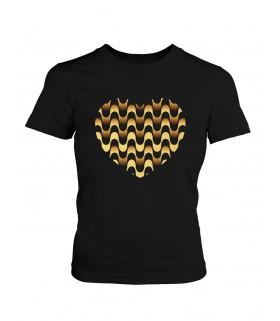Camiseta DEEF CORAZON GOLDEN